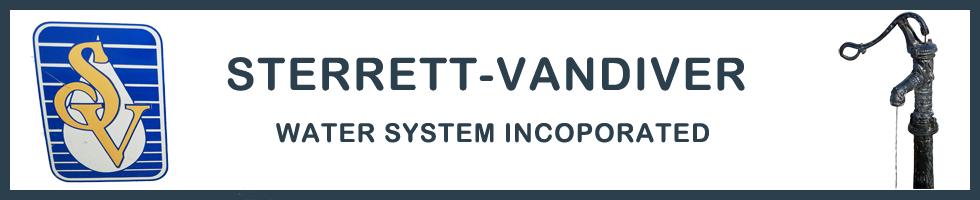 Sterrett-Vandiver Water System, Inc.